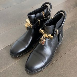 Black Ankle Boots w/ Buckle Detail